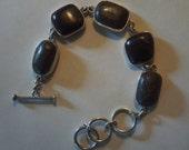 Sterling Silver Setting Limonite and Purple Argillite Bracelet, New Jersey