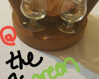 Baileys Drinking Glass Set, bar decor