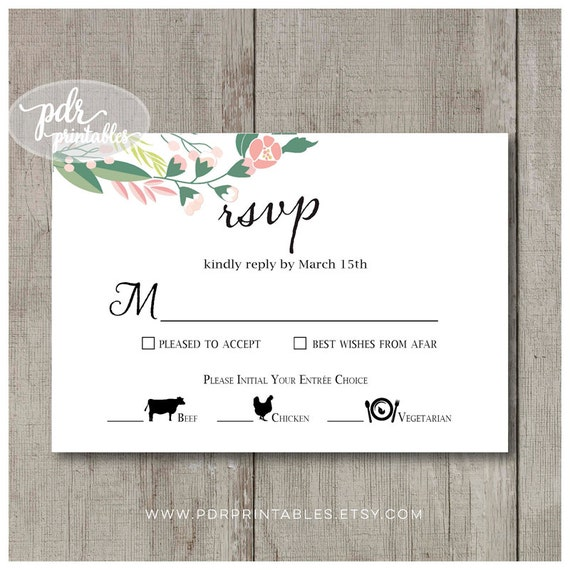 Wedding Meal Option Reply Card Food Icon Meal Choice