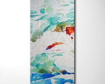 """Modern Art Abstract Painting, Original Oil Painting on Canvas, Large Wall Art Decor Painting, 20"""" X 40"""""""