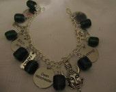 Delux Supernatural inspired Dean Quotes Charm Bracelet