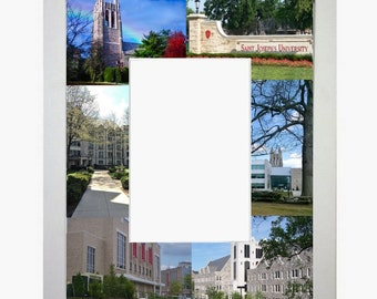 Saint Joseph's University, Picture Frame, Photo Mat, Unique, Gift, School, Graduation Gift, Personalized Gift