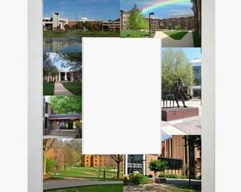 George Mason University Picture Frame Photo Mat Unique Gift Graduation School Personalized