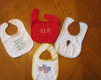Colorful baby bibs-set of 4