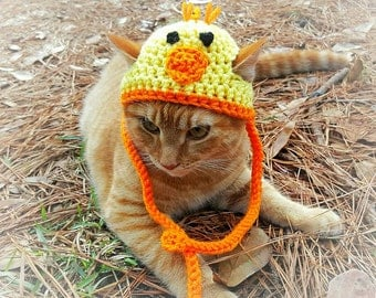 Easter Hats for Cats, Chick Cat Hat, Chick Costume for Cats, Easter Cat Hat, Easter Cat Clothing, Easter Cat Clothes, Chick  Hat for Cat