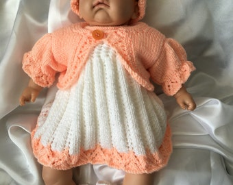 Hand Knitted Dolls Clothes Dress Set