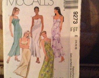 McCall's 9273 (14,16,18) Misses' Dress 1998 UnCut