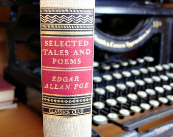 1943 Selected Tales And Poems EDGAR ALLEN POE Classics Club Hardback Book