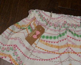 "Toddler Skirt - ""Spring has Sprung"" - 2T"