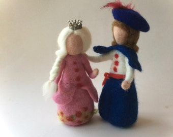 Prince.Fairy tale .Grimm.Doll,Story,Felted. Waldorf