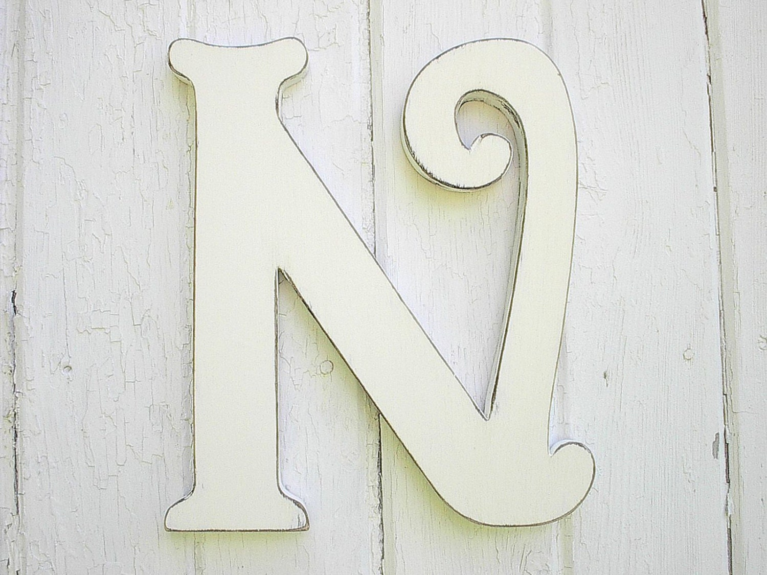 decorative letters for wall wooden letters decorative n 12 inch distressed white wall 21332 | il fullxfull.916314634 46r7