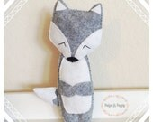 Nursery Decor - Plush Wolf Toy - Wolf Pillow Nursery Decor - Wolf Stuffed Animal - Matching Baby Mobile