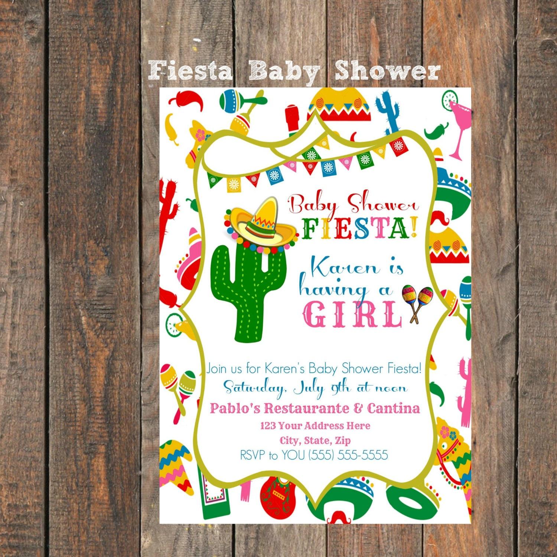 Fiesta baby shower invitation - Fiesta baby shower ...