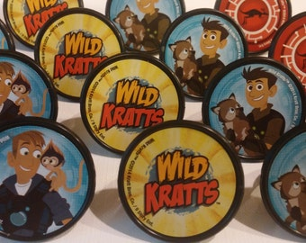 24 WILD KRATTS PBS Kids cupcake rings toppers cake picks for your themed Birthday Party favor Goodie Bags Chris Martin Aviva creature power