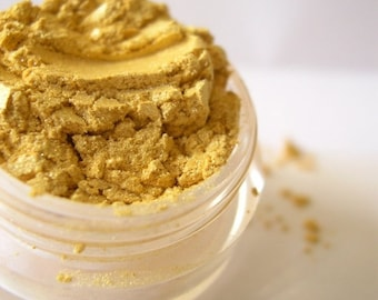 60% OFF - Mineral Eyeshadow - Gold Eye Shadow Makeup - Shimmer or Matte - BEESWAX | #Xmasinjuly