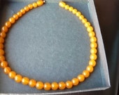 30% off Vintage USSR Russian Baltic Butterscotch honey Amber necklace 16inch in excellent like new condition