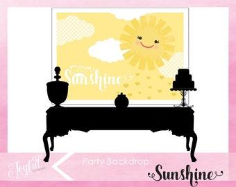 Sunshine Birthday Party Backdrop