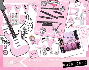Rock Star Birthday Party Invitations and Printables