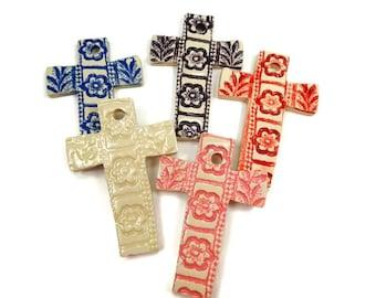 Cross Ornament, Christening Favor, Nursery Décor Cross, Religious Gift, Baptism Gift, Easter Cross, Christian Wedding Favor, Baby Cross