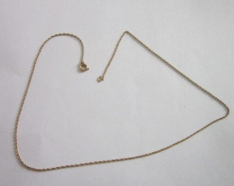 "Vintage 15 1/2"" 12 K Gold Filled Chain Necklace"