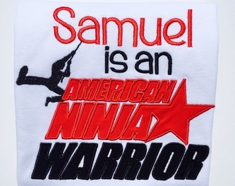 AMERICAN NINJA WARRIOR-Personalized Embroidered T-shirt