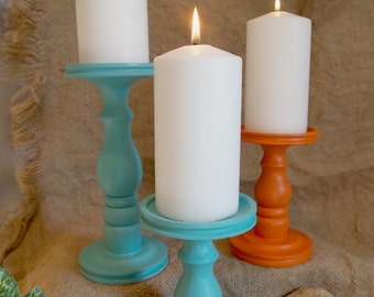 Southwestern Combo #2 Pillar Candle Holders - Set of 3 - MADE IN USA