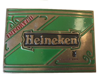 Vintage Heineken Beer Belt Buckle