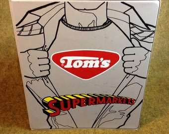Vintage Tom's Note Pad Cover and 3 Ring Binder - Advertising Promotional Supermarkets Program