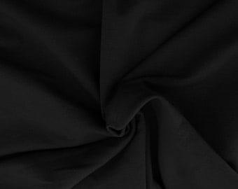Black Sherpa Fleece Fabric Very Soft Stretchy by Yard 3/8/16 Poly Rayon Spandex