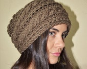 SPECIAL - Slouchy cable patterned beanie - MOSSY OAK (Or Choose Color) - womens teen girls - accessories - vegan friendly - gift