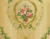 Victorian Glitter WallPaper Digital Paper Intricate Flower Pattern Printable Digital Sheet, Wall Art, Scrapbooking Collages Instant Download
