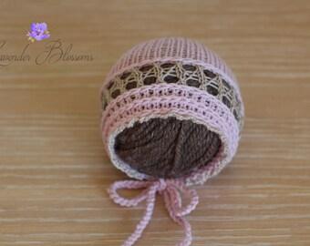 Newborn hat newborn  Bonnet Ready to ship Newborn  photo prop