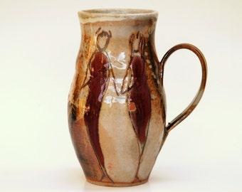 LARGE Coffee Mug, 24 oz,handmade ceramic cup, tea cup, coffee cup, handthrown ceramic stoneware pottery mug, unique coffee mug
