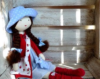 Cloth doll, Rag doll, handmade doll, ballerina doll, gift for girl