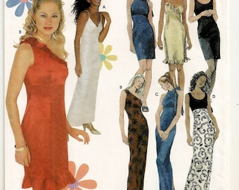 An Empire Waistline Evening Dress Pattern with Bodice and Length Variations: Uncut - Junior Sizes 3/4 - 5/6 - 7/8 - 9/10 ~ Simplicity 9590