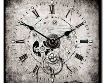 Steampunk Square Wall Clock