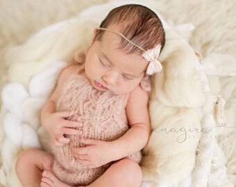 Newborn props - Newborn romper - Baby girl props - Photo props - Newborn girl - Baby photo prop - Newborn baby photo - Pale pink - Newborn