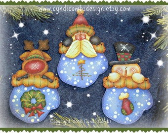 CC194 - Merry Mittens - Painting E Pattern by Cyndi Combs