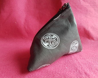 5 inch Doctor Who inspired Seal of Rassilon coin purse