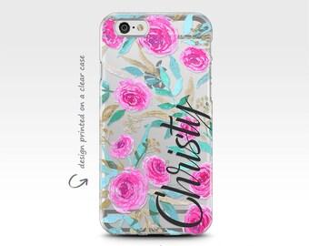 iPhone 7 Case, iPhone Case, iPhone 8 Plus Case, Monogram, Galaxy S7 Case, iPhone 6 Plus Case, iPhone X Case, Galaxy S8 Case