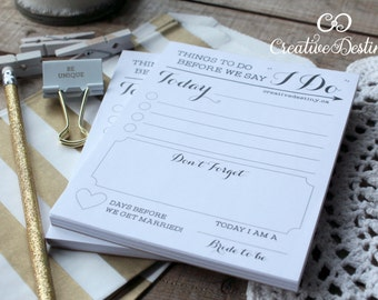 Brides to do list notepad