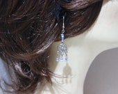 Blue Beads Earrings. Earrings, Beaded Earrings