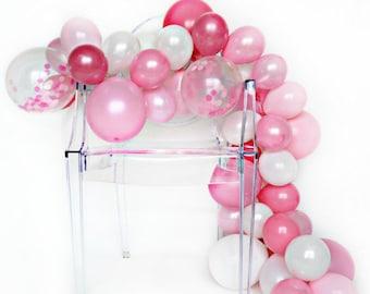 Balloon Garland Kit - Pink Peony - Shades of Pink Balloon Garland - Pink Party Balloons - Baby Shower Balloon Garland