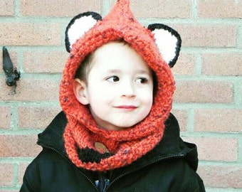 Fox cowl - Toddler size (2-4 yo)