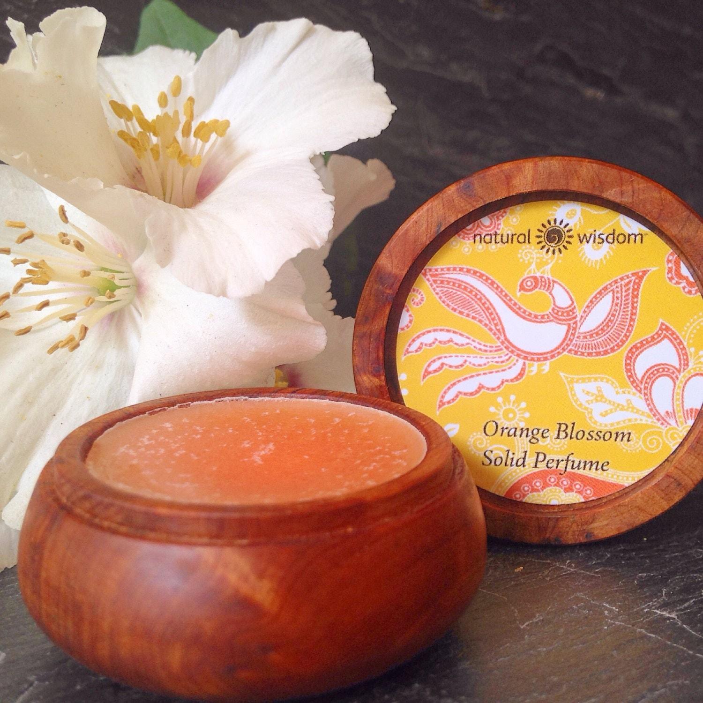 Fragrance Orange Blossom Perfume: Orange Blossom/Neroli Solid Perfume 100% By NaturalWisdomSpa