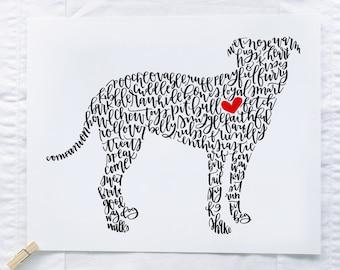 Pit Bull Illustration Print