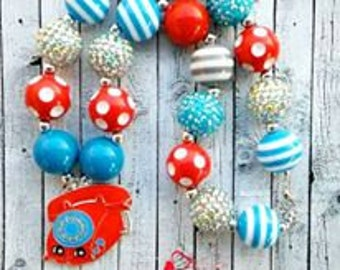 Shopkins Inspired Chunky Bead Necklace