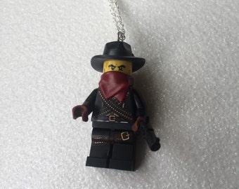 Lego Minifig Cowboy Villian Necklace