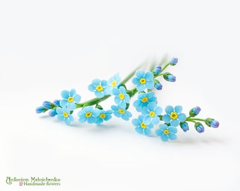 Forget-me-not - Polymer Clay Flowers