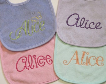 Super Set of 4 Baby Bibs for that Sweet Little Missy